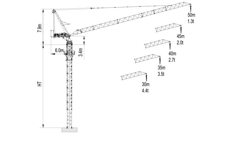 Topless Tower Crane LTC5013-8-2018