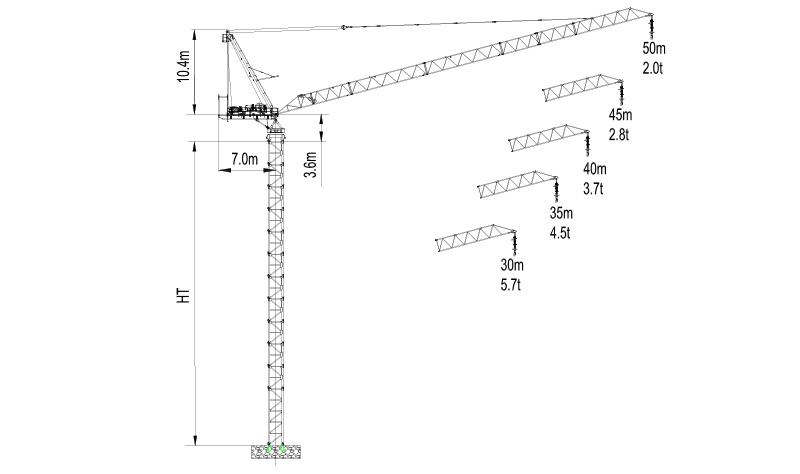 Topless Tower Crane LTC5020-10-2018
