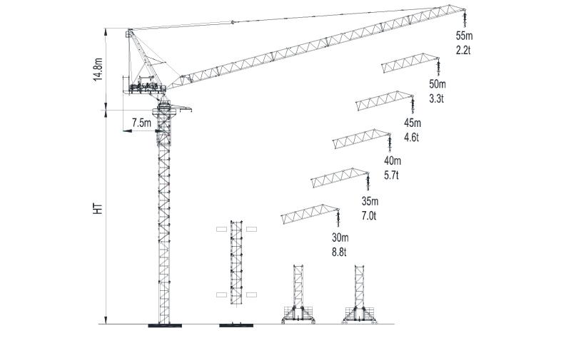 Topless Tower Crane LTC5522-14-2018