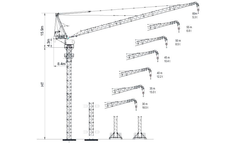 Luffing Tower Crane LTC6053-24-2018