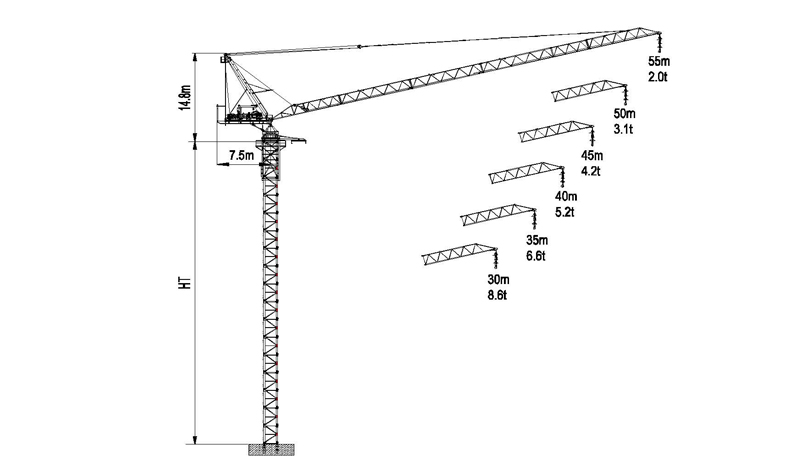 Luffing Tower Crane LTC5522-12/14